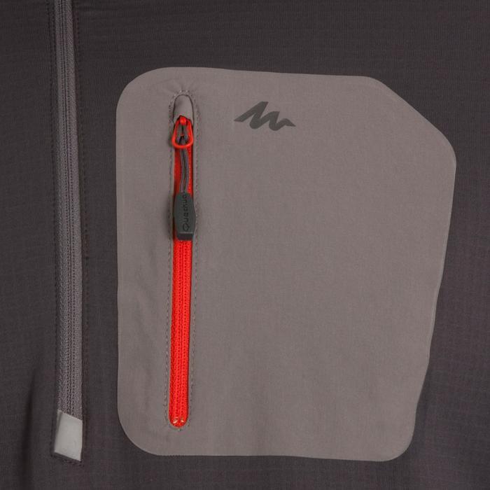 T-Shirt manches longues de randonnée neige homme SH500 active chaud gris