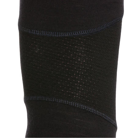 Black mountain trekking tights Men's TECHWOOL190