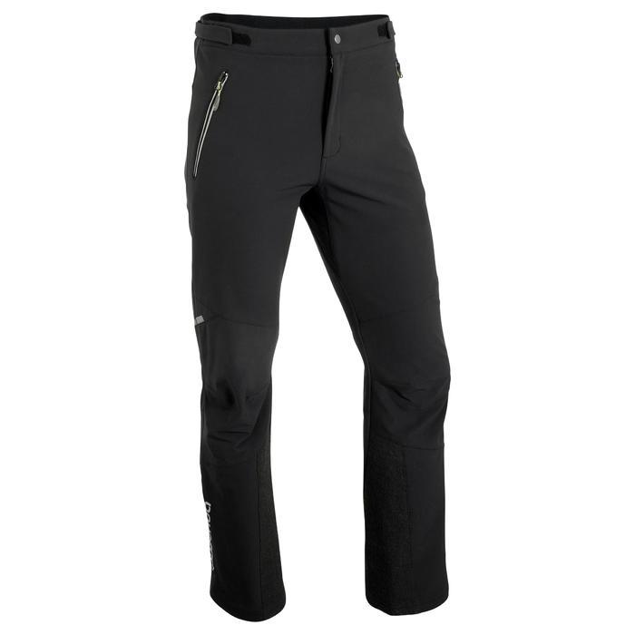 Pantalón de senderismo en la nieve para hombre SH500 active cálido negro