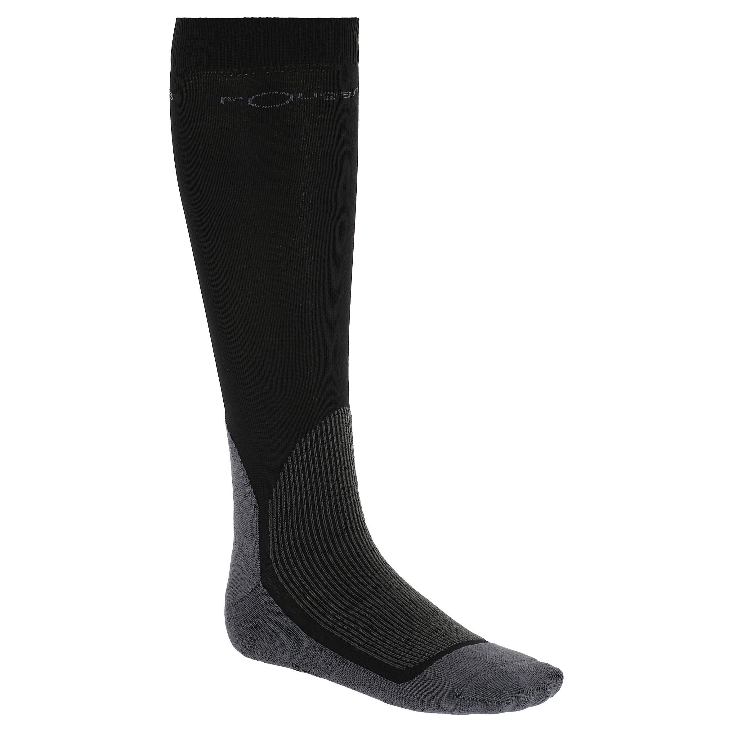 Calcetines de equitación adulto EQUAREA negro x 1 par