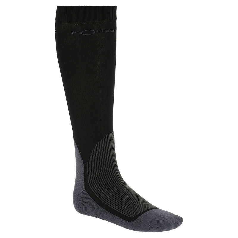 ADULT RIDING SOCKS Horse Riding - Adult Socks 700 - Black FOUGANZA - Horse Riding
