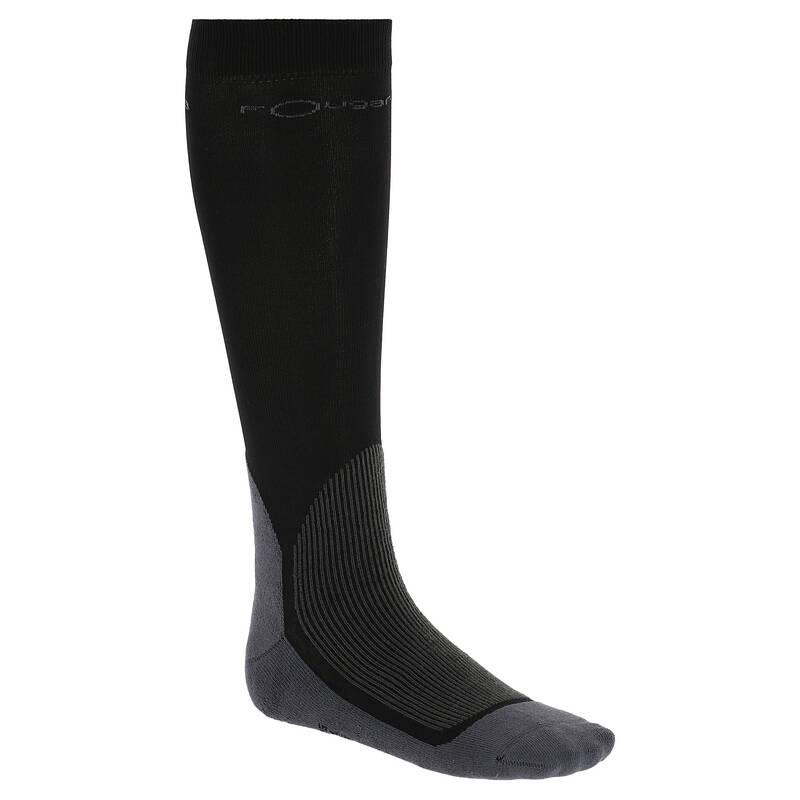 Jezdecké ponožky - JEZDECKÉ PODKOLENKY 700 ČERNÉ  FOUGANZA