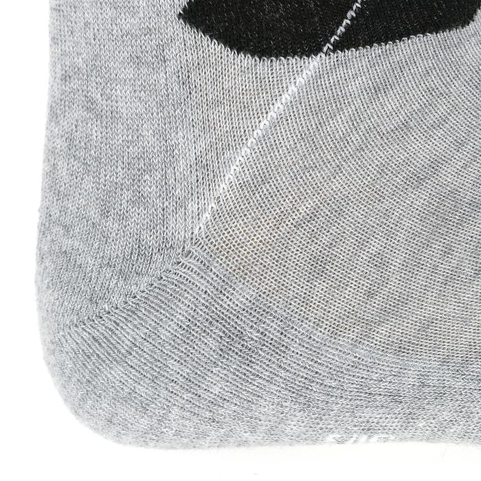 Reitsocken Erwachsene Doppelpack kariert hellgrau/dunkelgrau