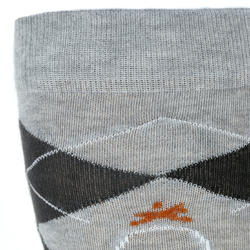 Chaussettes équitation adulte LOSANGES gris clair et gris foncé