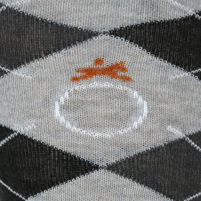 Losanges Adult Horse Riding Socks - Light Grey/Dark Grey