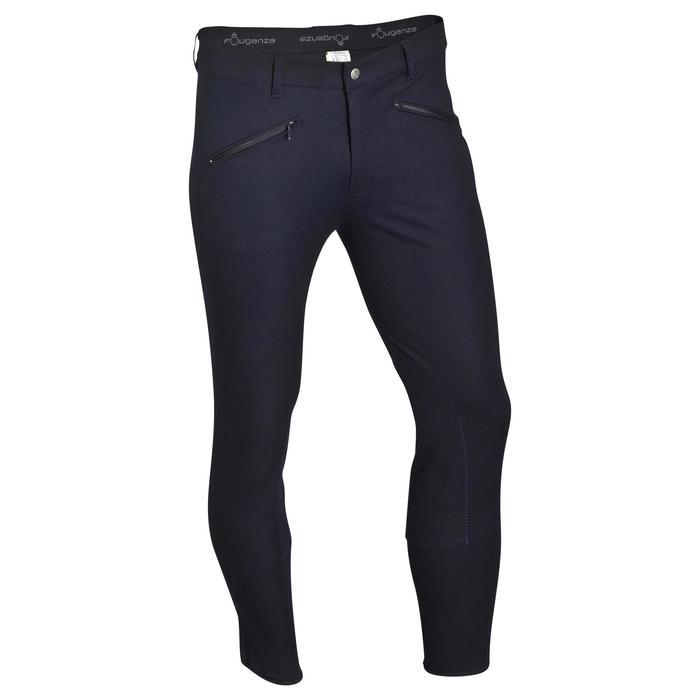 Pantalon équitation homme BASIC bleu marine
