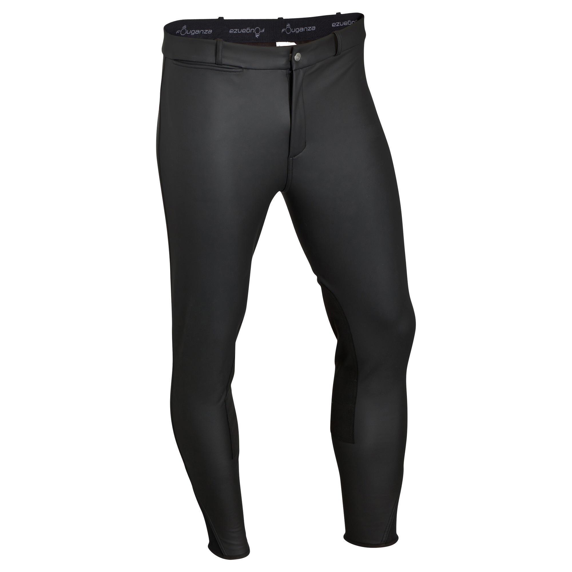 pantalon chaud et imperm able quitation homme kipwarm noir fouganza. Black Bedroom Furniture Sets. Home Design Ideas