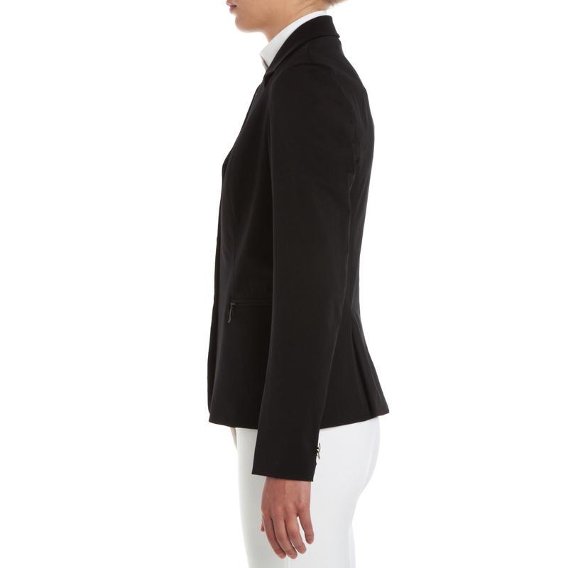 Veste de Concours équitation enfant COMP500 noir