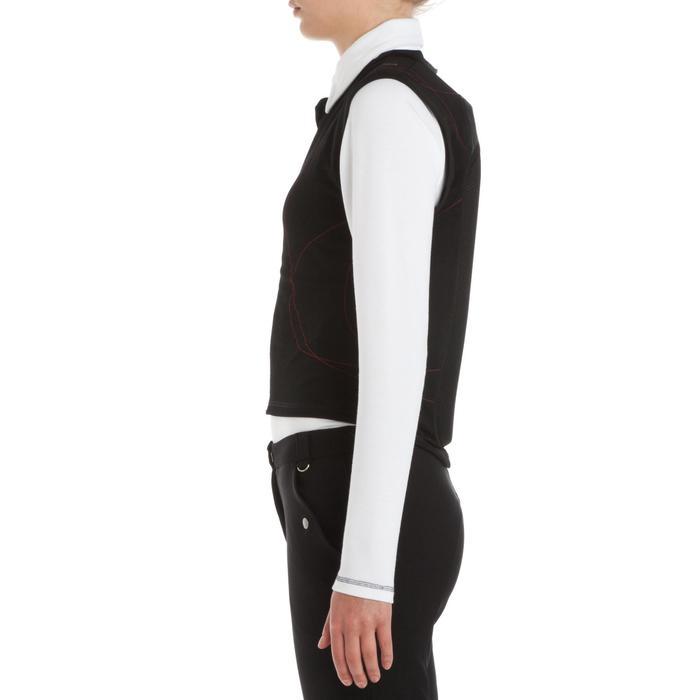 成人及兒童款彈力馬術背部護具-黑色