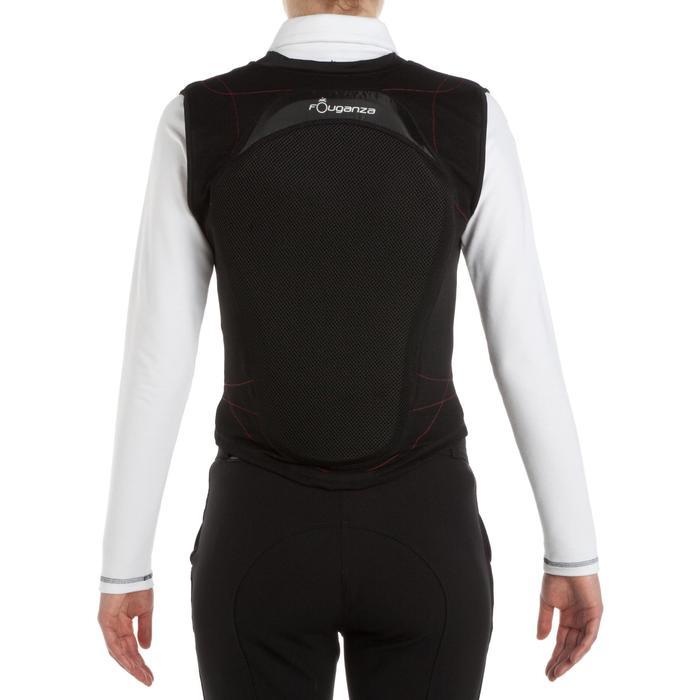 Protection dorsale souple équitation enfant et adulte noir - 346367
