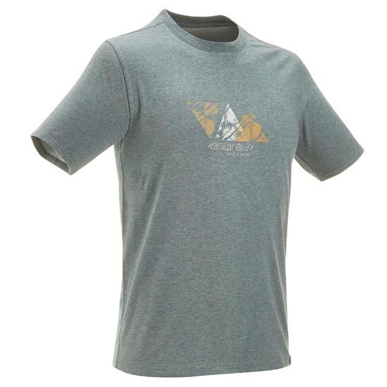 Wandel T-shirt met korte mouwen voor heren Techtil 100 gemêleerd - 3467