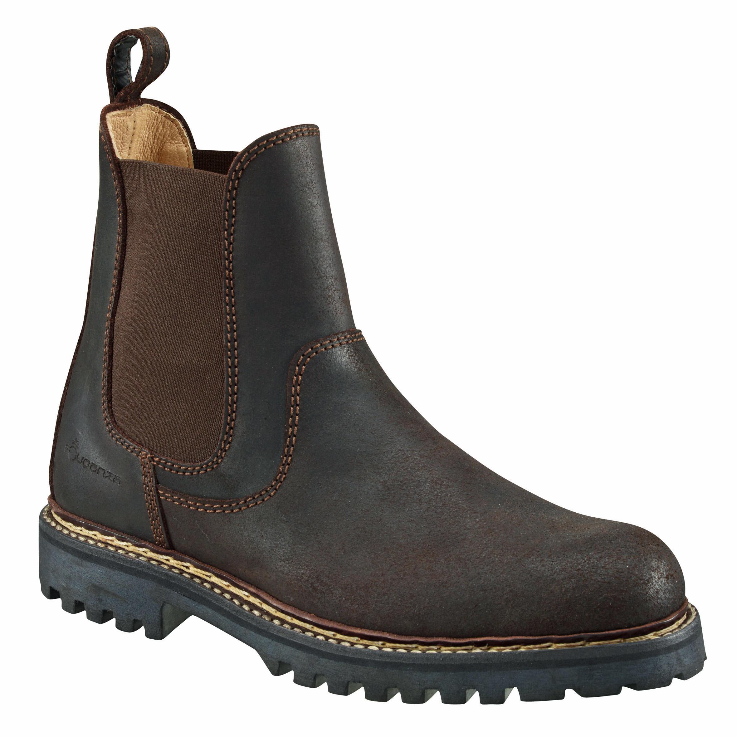 Boots équitation adulte sentier 900 marron fouganza