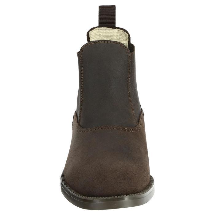 Botines de equitación Fouganza CLASSIC adulto marrón piel, tallas 45-48