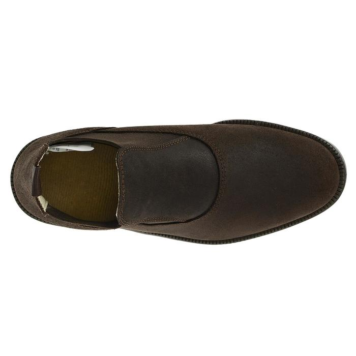 Botines de equitación para adulto CLASSIC, piel marrón, tallas 45-48