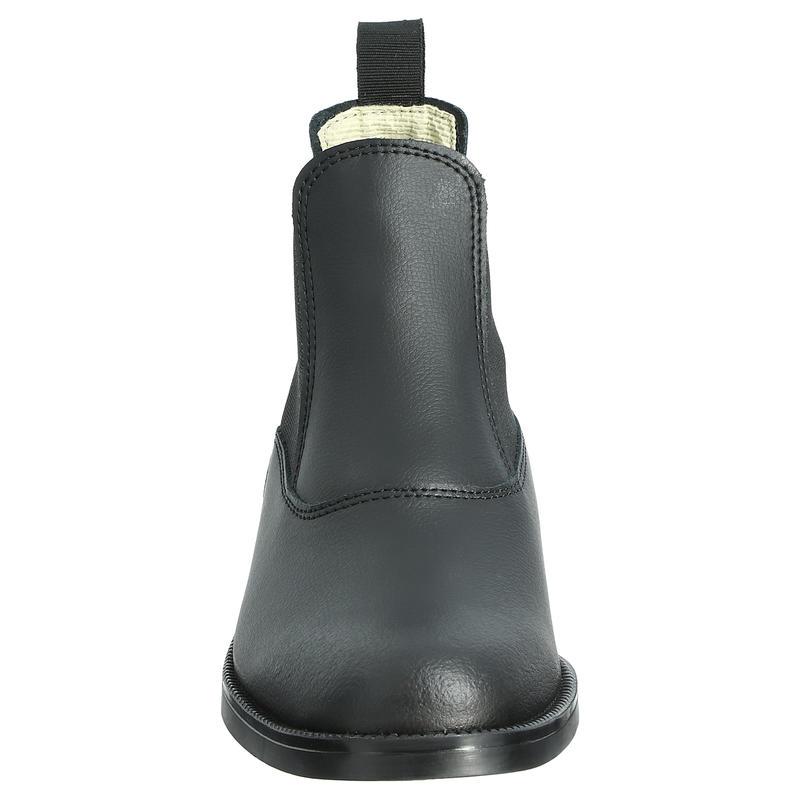 Adult/Kids' Horse Riding Leather Jodhpur Boots Classic - Black
