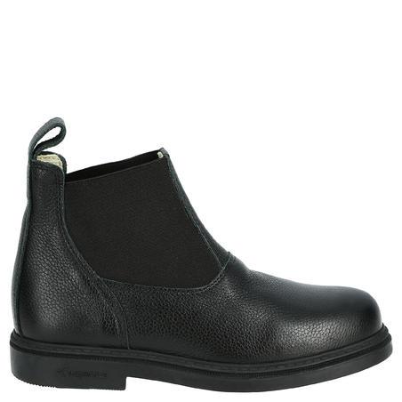 נעלי רכיבה קלאסיות לילדים מעור - שחור