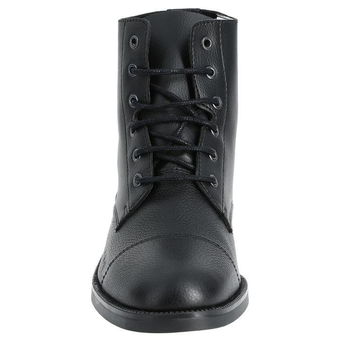 Boots équitation adulte CLASSIC LACETS noir - 346993