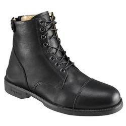 Paddock Adult Lace-Up Horse Riding Jodhpur Boots - Black