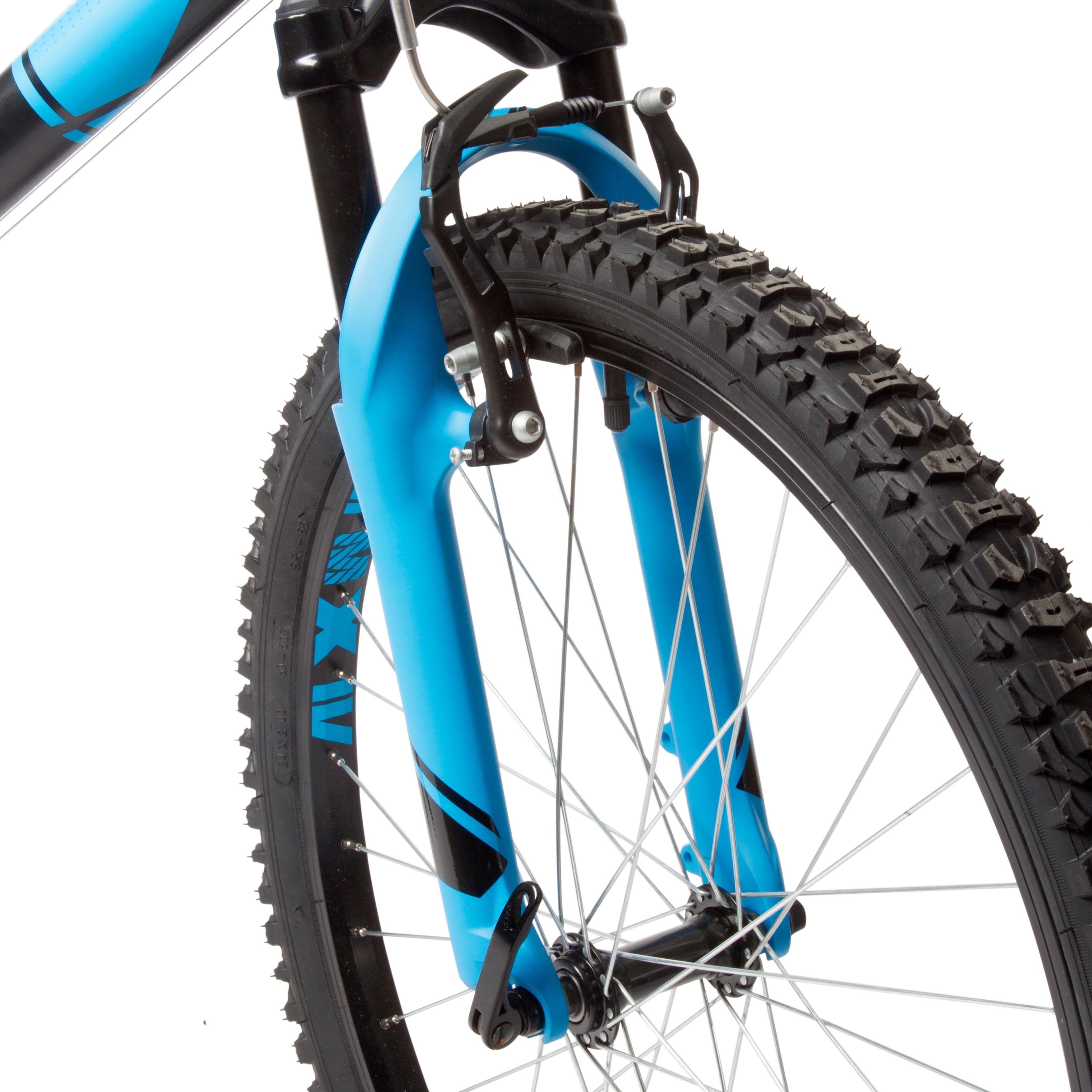 Rockrider 500 Kids' 24-Inch Mountain Bike 9-12 Years - Blue