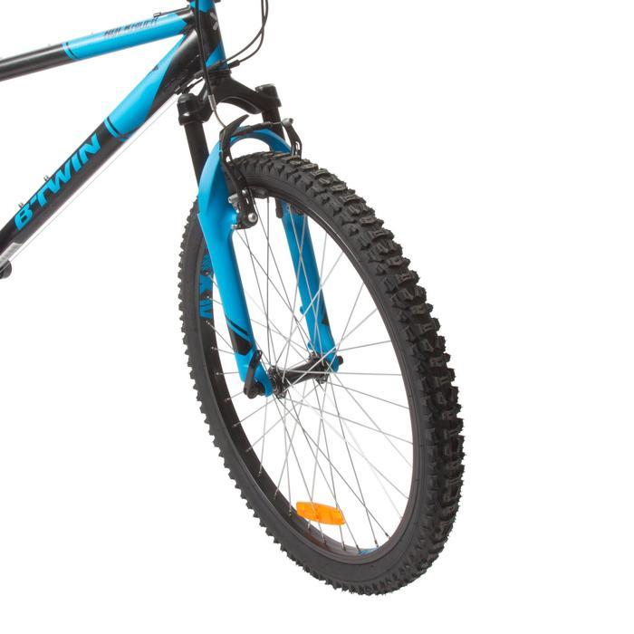 Mountainbike Kinder 24 Zoll Rockrider 500 schwarz/blau