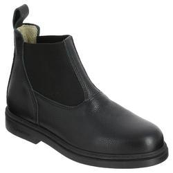 Boots voor kinderen ruitersport Classic leer zwart