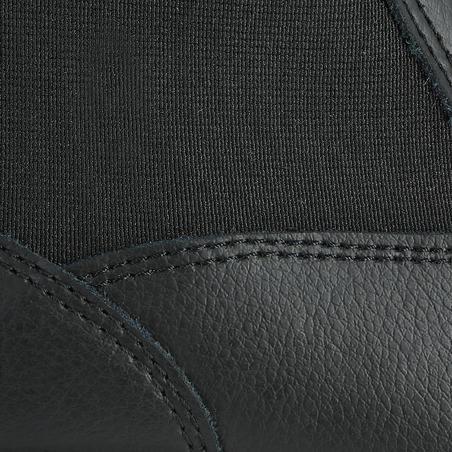 Klasikiniai odiniai jojimo batai suaugusiesiems, juodi
