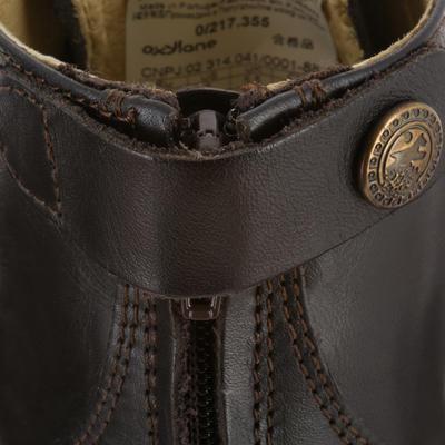 Boots équitation adulte PADDOCK LACETS marron