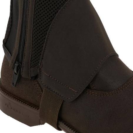 Mesh 300 Adult and Children's Horse Riding Half Chaps - Brown