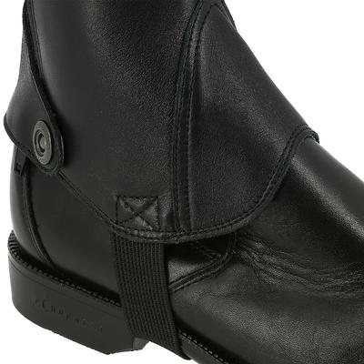 Mini-chaps équitation adulte PADDOCK 700 cuir noir