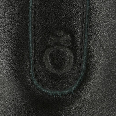 Polainas cuero equitación adulto PADDOCK 700 Negro