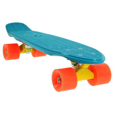 Cruiser Skateboard Yamba 100 - Blue/Coral