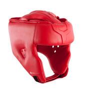 Rdeč boksarski ščitnik za glavo
