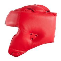 Kopfschutz offen für Training und Wettkampf rot