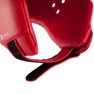 מגן ראש פתוח לתחרויות ואימוני אגרוף - אדום