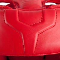 Відкритий боксерський шолом для тренувань та змагань - Червоний