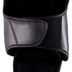 Scheen- en voetbeschermer Pro voor boksen, voor training en competitie zwart - 348455