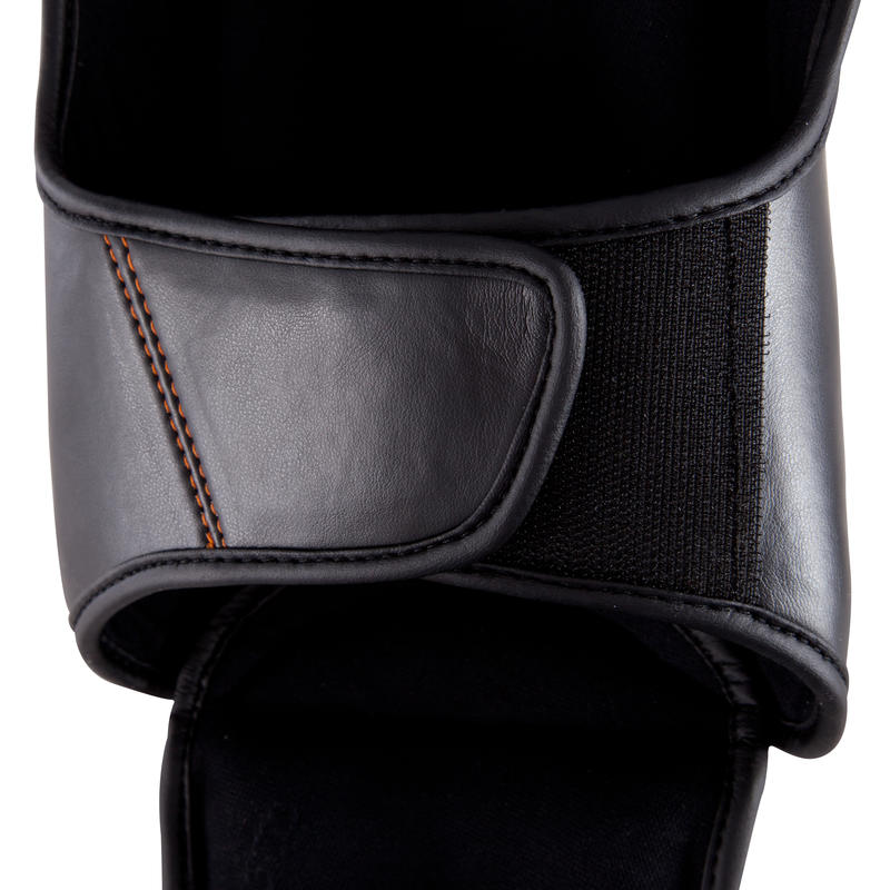 Pro Boxing Training and Competition Shin and Foot Guard - Black
