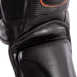 Scheen- en voetbeschermer Pro voor boksen, voor training en competitie zwart - 348457