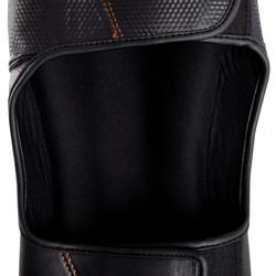 Scheen- en voetbeschermer Pro voor boksen, voor training en competitie zwart - 348458