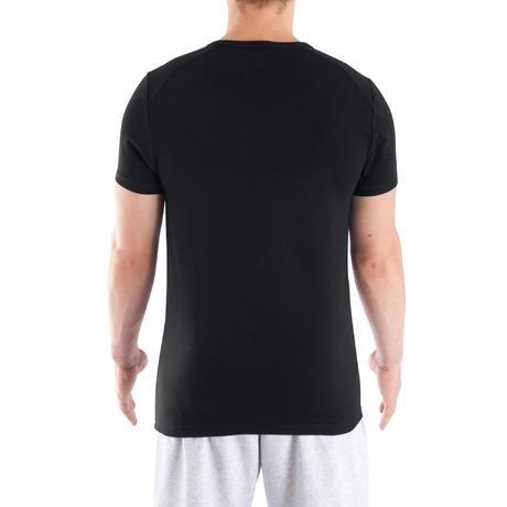 tee shirt col v dry skin musculation homme noir domyos. Black Bedroom Furniture Sets. Home Design Ideas