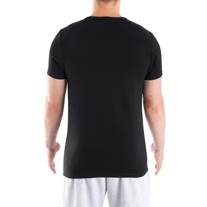 Camiseta cuello de pico DRY SKIN musculación hombre negro