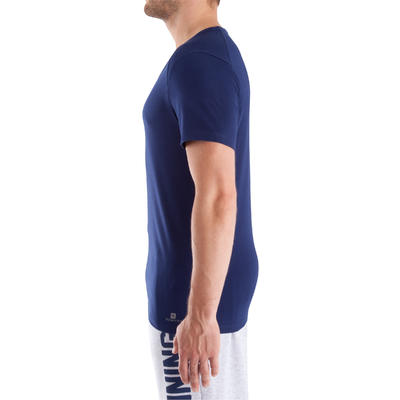 Dry Skin Bodybuilding V-neck T-shirt - Dark Blue