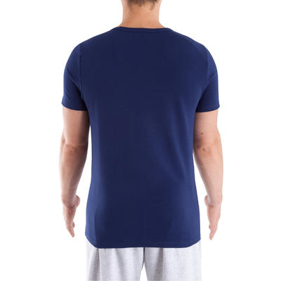 Dry Skin Bodybuilding V-neck T-shirt - Dark Blue