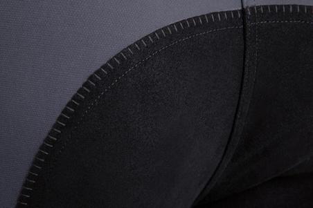 BR780 Women's Horse Riding Full Seat Jodhpurs - Grey/Black