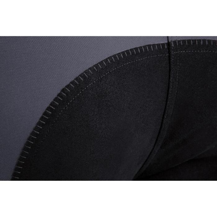 Pantalón badana equitación mujer BR780 fullseat Gris y Negro