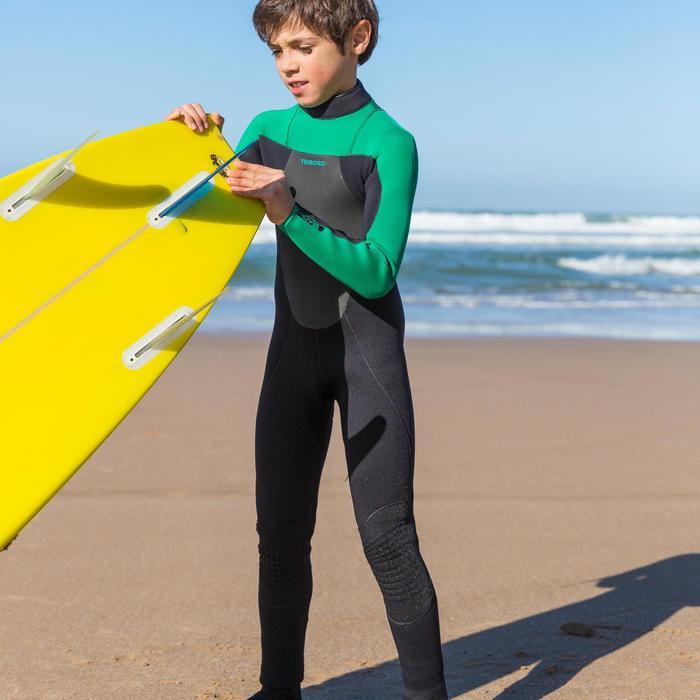 Combinaison Surf 500 Néoprène 4/3 mm Enfant verte - 34865