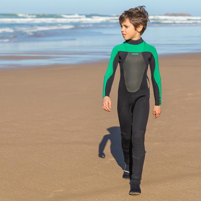 Combinaison Surf 500 Néoprène 4/3 mm Enfant verte - 34866