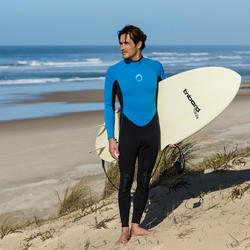Heren surfpak 100 neopreen 2/2 mm blauw - 34904