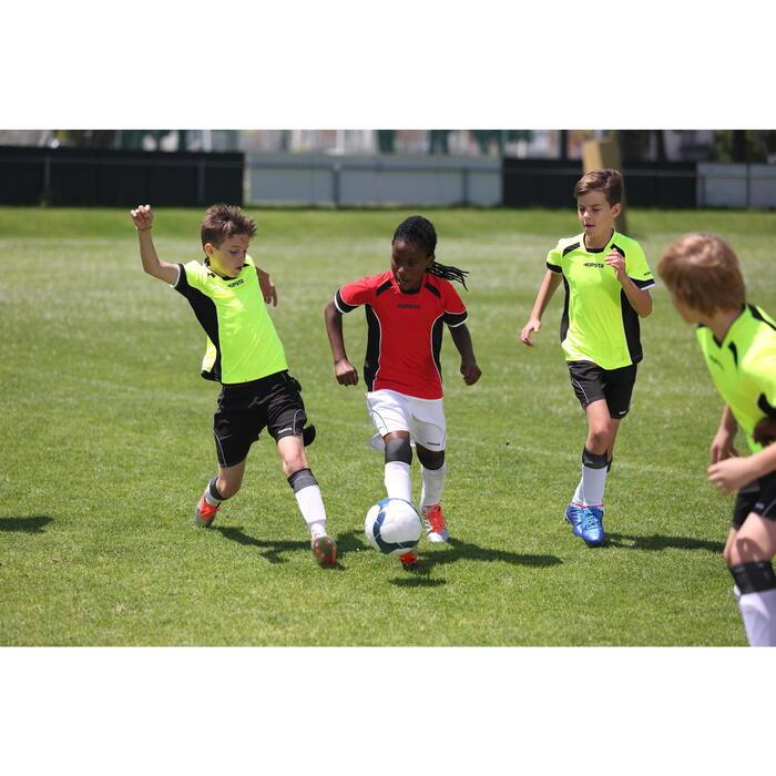 Botas de fútbol para niños terrenos secos Agility 700 FG blanco azul