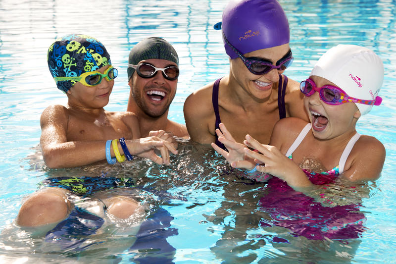 Swimming Goggles Large XBASE- Black